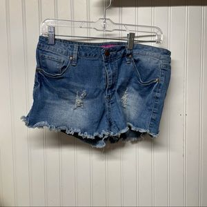 KSmore Size 13 Distressed Shorts